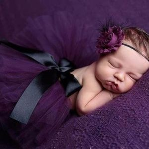 Other - Gorgeous purple baby tutu and headband 0-12 mo.